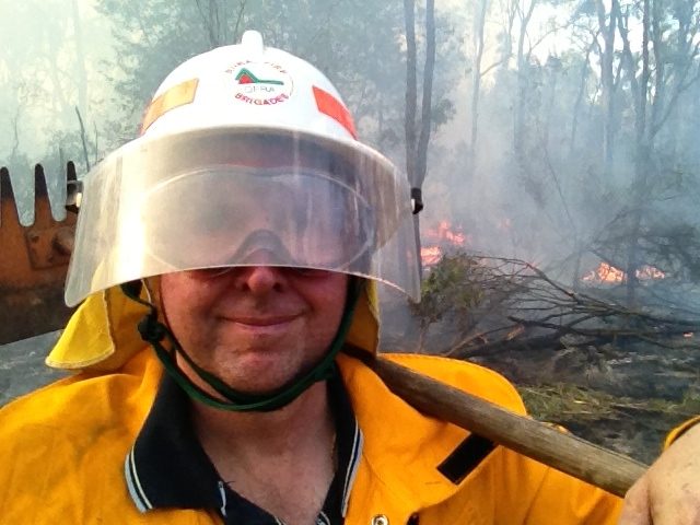 Fighting weekend bush fires, serving the community